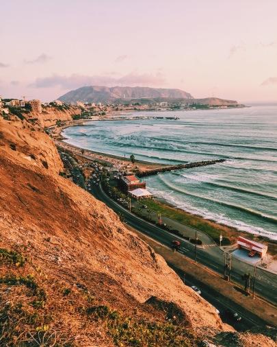 Coastline of Lima , Peru